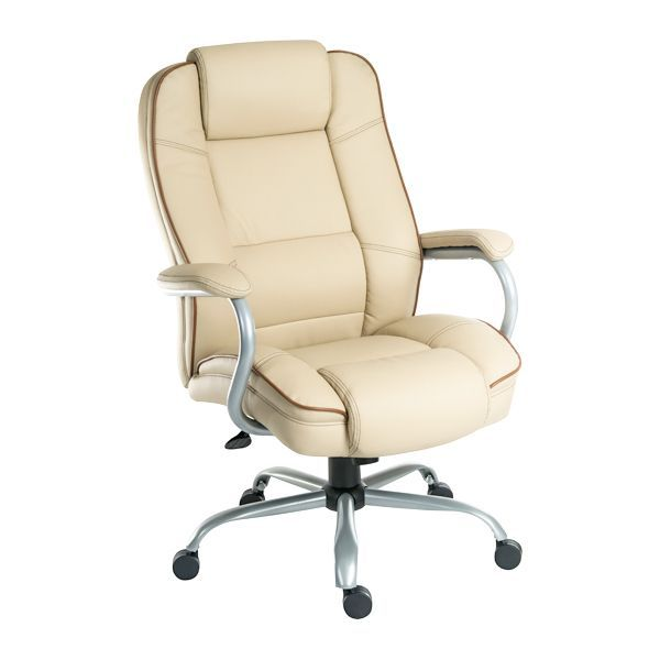Goliath Duo Leather Heavy Duty Office Chair 27 Stone